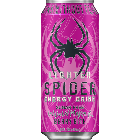 Spider Energy Drink Widowmaker Sugar Free
