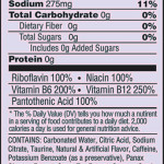 Nutrition Facts Sugar Free Mimic Spider Energy Drink