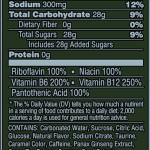 Nutrition Facts Widow Spider Energy Drink