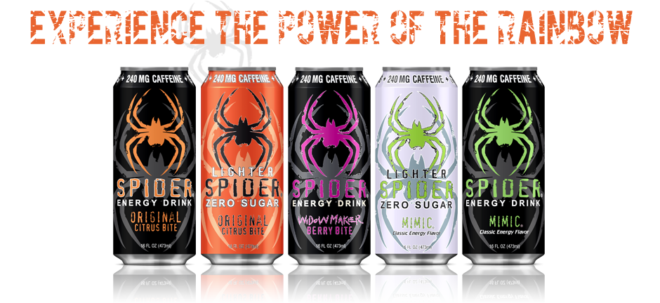 Spider Energy Drinks: Experience The Power of the Rainbow